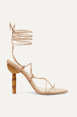 Cult Gaia Soleil Leather Sandals - Beige