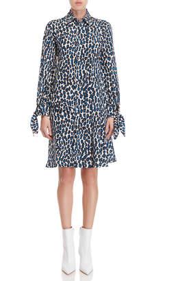 Derek Lam Leopard Print Shirtdress