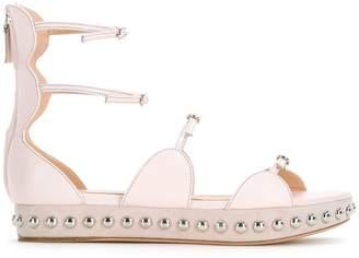 Giambattista Valli studded strappy ballerina shoes