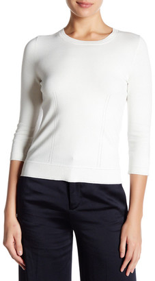 MILLY Zip Back Pullover Sweater $220 thestylecure.com