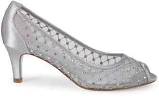 Adrianna Papell Jane Embellished Mesh Peep-Toe Pumps