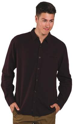 KOLBY Mens Adam Herringbone Button up Long Sleeve Collared Shirt