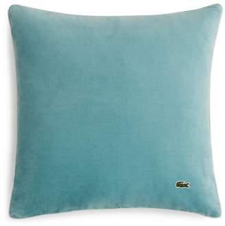 "Lacoste Velvet & Brushed Twill Decorative Pillow, 18"" x 18"""
