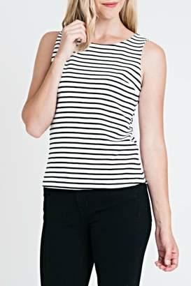 Renee C Stripe Fitted Top