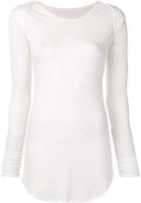 MM6 MAISON MARGIELA ribbed sweatshirt
