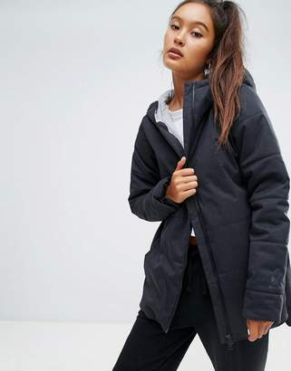 Reebok Classics Padded Jacket With Hood In Black