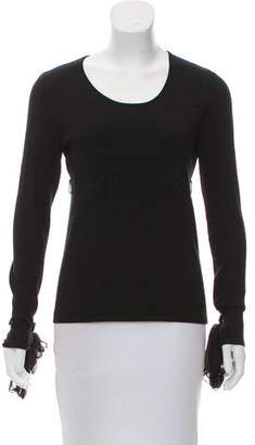 Chanel Tie-Accent Long Sleeve Top