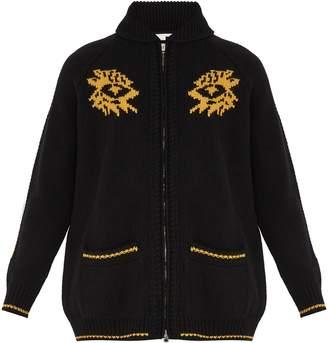 Stella McCartney Graphic and scorpion-intarsia wool sweater