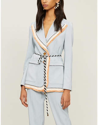 Peter Pilotto Contrast-trim woven jacket
