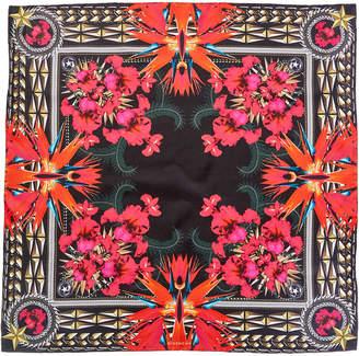 Givenchy Iris Silk Twill Square Scarf