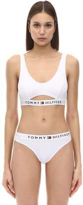 Tommy Hilfiger Logo Band Cut Out Cotton Bralette