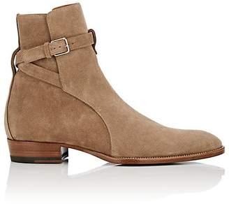 Saint Laurent Men's Wyatt Suede Jodhpur Boots