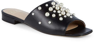 Zac Posen Amber Faux Pearl Leather Slides