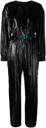 Frankie Morello belted jumpsuit