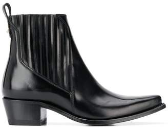 Valentino pointed toe ankle boots