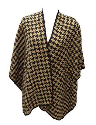 Under Zero Women Houndstooth Plaid Blanket Shawl
