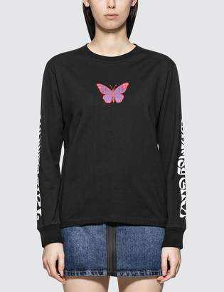 X-girl X Girl Black Butterfly Long Sleeve T-shirt