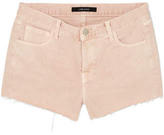 J Brand Frayed Denim Shorts - Pastel pink