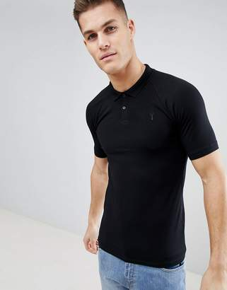 Next Muscle Fit Polo In Black