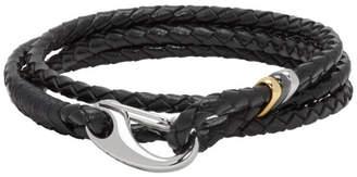 Paul Smith Black Leather Wrap Bracelet