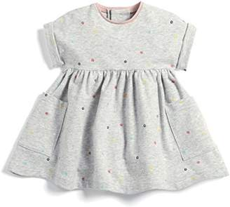 Mamas and Papas Baby Girls' Print Jersey Dress (Grey Snfg), (Size: New Born)