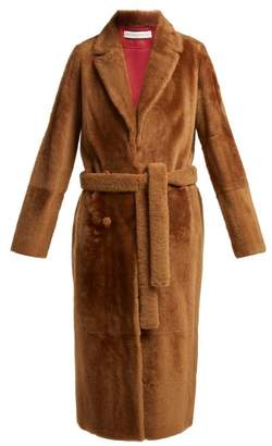 Inès & Marèchal Dakota Lacaune Shearling Coat - Womens - Brown Multi