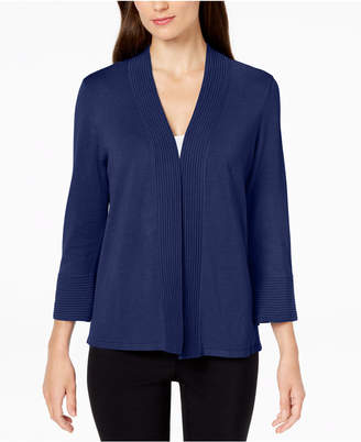 JM Collection Petite Flare-Sleeve Open-Front Cardigan, Created for Macy's