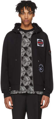 McQ Black Patch Big Zip Hoodie