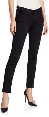 Karl Lagerfeld Paris Mid-Rise Denim Skinny Jeans, Black
