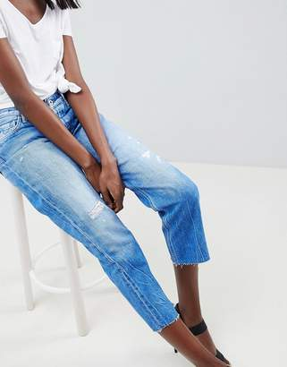 Replay Cropped Rigid Straight Jean with Raw