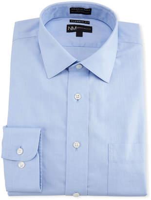 Neiman Marcus Classic-Fit Non-Iron Dobby Twill Dress Shirt, Blue
