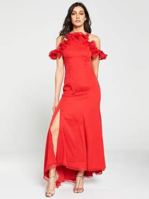 Keepsake Embrace Ruffle Top Gown - Red
