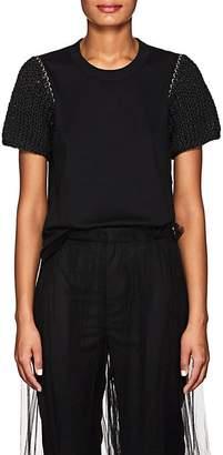 Noir Kei Ninomiya Women's Embellished Cotton Jersey T-Shirt