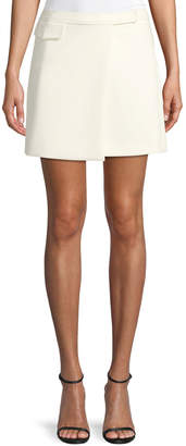 Theory Draped A-Line Mini Skirt