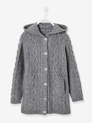 Vertbaudet Hooded Cardigan for Girls