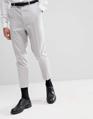 Asos DESIGN Tapered Suit Pants In Ice Gray