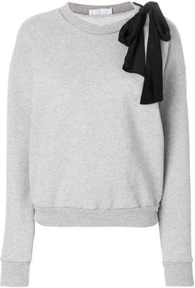 Frame sweatshirt with silk bow
