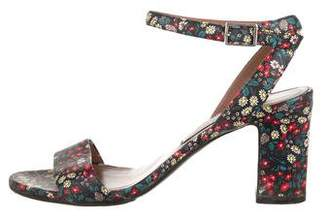 Tabitha Simmons Floral Printed Sandals