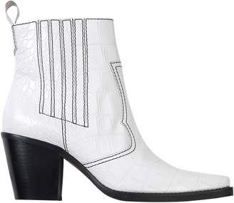 Ganni Chelsea Leather Booties