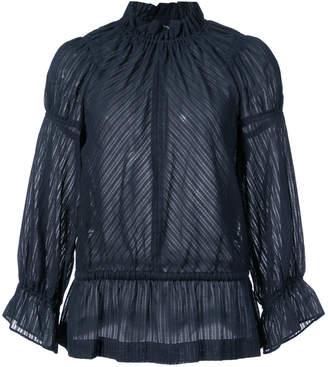 Derek Lam 10 Crosby Long Sleeve Bell Sleeve Blouse