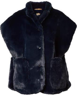 Burberry Faux Fur Wrap - Navy