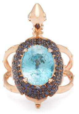 Daniela Villegas - Darwin Diamond, Sapphire & 18kt Rose Gold Ring - Womens - Blue