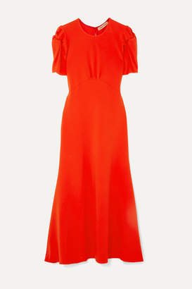 Maggie Marilyn + Net Sustain It's Up To You Knotted Crepe Midi Dress - Orange