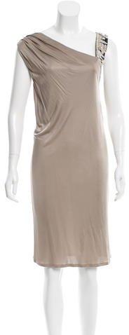 Emilio PucciEmilio Pucci Bead-Accented One-Shoulder Dress