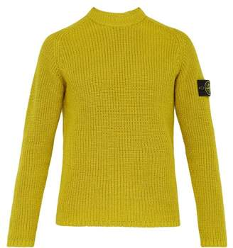 Stone Island Fisherman Knit Cotton Sweater - Mens - Yellow