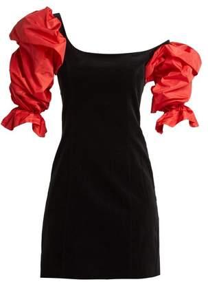 Isa Arfen Drama Sleeve velvet mini dress