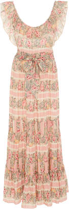 LoveShackFancy Joanne Printed Silk-Chiffon Maxi Dress