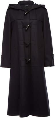 Jil Sander Navy Fleece Wool Duffle Coat