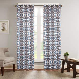 Madison Park Stetsen Diamond-Printed Grommet-Top Curtain Panel