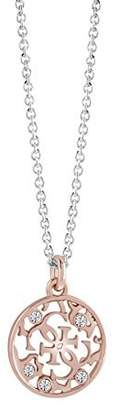 GUESS Women Pink Pendant Necklace of Length 42cm UBN71520